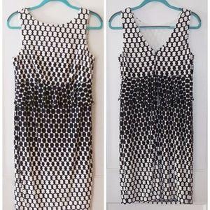 Donna Morgan Geometric Peplum Dress Medium